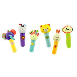 Baby Spielzeug Stab- Greifling Rassel Glöckchen Tiere Plüsch Kinder TOP Marke DE