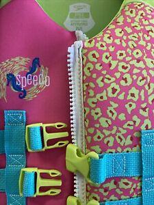 Speedo 30-50 lb Child Floatation Aid Type III PFD seahorse design