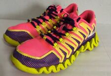 Reebok Zigtech Womens Athlethic Running Shoes Pink Yellow Purple Size 6.5