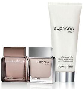 Euphoria For Men Intense Euphoria and After Shave Balm Trio Travel Gift Set