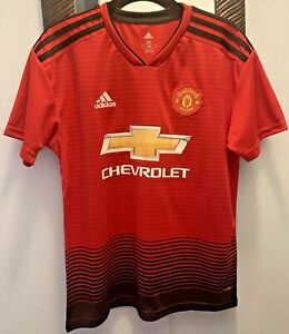 NWT Manchester United Jersey 2018 2019 Home POGBA #6 Youth Size 28 Adidas Red