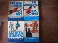 Livre football : Lot de 4 livres FOOTBALL BELGE ( Belgique ) Gardiens ..Arbitres
