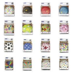 PME Cupcake Cases Foil Lined Patterned Colourful Baking Cases 30 Pack