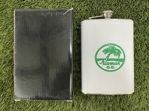 Winston Collection White Leather Flask 8 Ounce NEW!!