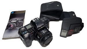 Minolta 7000 Maxxum 35mm Film Camera With Flash And AF 50mm 1:1.7 (22)lens Small