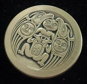 Native American Spindle Whorls 1.6oz 999 Fine Copper Art Round Made in USA