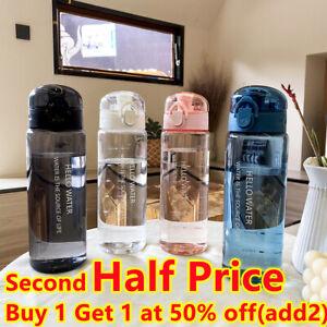 780ml Sports Portable Water Bottle Leakproof Drinks Mugs BPA Free Gym Travel UK