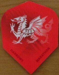 "5 Sets (5X3) Harrows Marathon ""Wales"" Dart Flights."