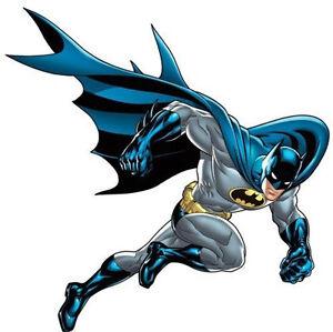 "BATMAN Bold Justice wall stickers MURAL 4 big decals superhero 44""x38"""