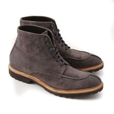 NIB $695 PAL ZILERI Gray-Brown Nubuck Leather Casual Boots US 11.5 Shoes