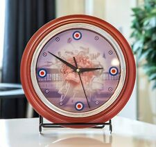 MOD SCOOTER Wall Clock Target design Retro RED Glass Front Exclusive Design