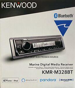 NEW Kenwood KMR-M328BT 1-DIN Marine Digital Media Receiver w/ Bluetooth