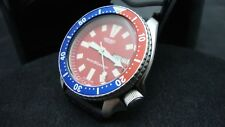 Vintage Seiko divers watch 6309 7290 Auto DD Mod RED DIAL JUNE 1987 M91