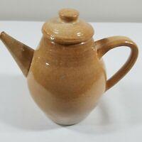 Vtg Studio Art Pottery COFFEE Handmade Stoneware TEA OIL Pot JUG MCM Makers Mark