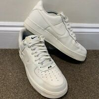 Nike Air Force 1 Low Sail White Black Mens Trainers UK Size 10