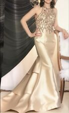 Milano, size 2, gold/champaign, long prom or formal dress