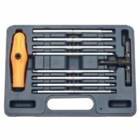 Vim Products BHM100 10 Pieces Extra Long Metric Ball Hex Ratcheting T-handle Set