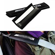 2pcs Carbon Fiber Car Seat Belt Cover Safety Shoulder Pads for Mercedes Benz AMG