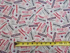 Farmall Tractors International Harvester Word Toss BY YARDS QT Cotton Fabric
