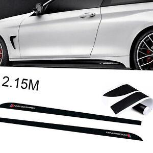 Performance  a strisce adesive per minigonne laterali lucide per BMW