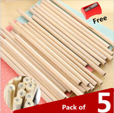 5x Back to School Pack HB Pencils Craft Art Drawing Free Pencil Sharpener