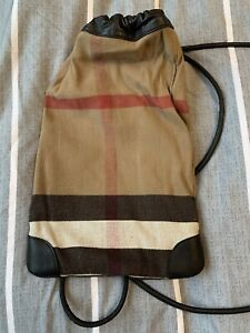 Burberry Leather Cotton BackPack . 100% authentic.