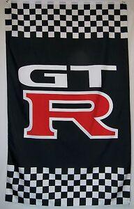 GTR Racing Car Flag 5' x 3' Indoor Outdoor Automotive Banner (USA Seller)