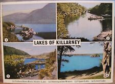 Irish Postcard Lakes of KILLARNEY Four Scenes Old Weir Multiview Mac Series 1977