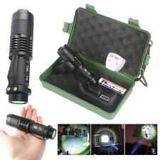 Flashlight Torch 4000LM CREE T6 LED Pocket Hiking Bike Light 18650 Battery Mount
