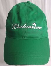 Budweiser Beer St. Patrick's Day Irish Shamrock Green Employee StrapBack Cap Hat