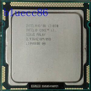 Intel Core i7-870 Quad Core 2.93GHz 8MB  95W SLBJG 95W LGA1156  CPU Processor