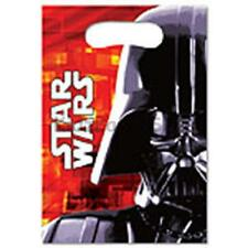 Star Wars Birthday Party - 6 Plastic Loot Bags - Free Postage in UK