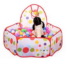New Children Kid Ocean Ball Pit Pool Indoor/Outdoor Game Play Tent w/ Ball Hoop