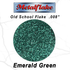 NEW METAL FLAKE GREEN GLITTER (0.008) CUSTOM PAINT FLAKES 30g 1oz RETRO CLASSIC