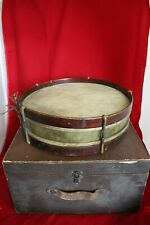Antique 1890s brass snare drum 16x5 Fraternity drum with signatures VERY COOL!
