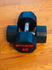 BRAND NEW 40LB PAIR OF RUBBER  HEX DUMBBELLS WEIGHTS.