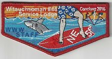 Witauchsoman Lodge 44 OA flap S71 Conclave 2016 NE-5B Service Lodge STAFF RARE