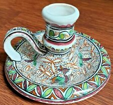 Portuguese Pottery Candle Holder