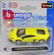 Lamborghini Aventador LP700-4 gelb Maßstab 1:64 von bburago