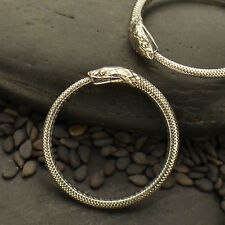 Ouroboros Sterling Silver Snake Ring Oxidized Serpent Gothic Ring Sz 6 7 8