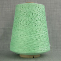 SOFT MERCERISED COTTON YARN 500g CONE 3 PLY MINT GREEN MACHINE KNITTING WEAVING