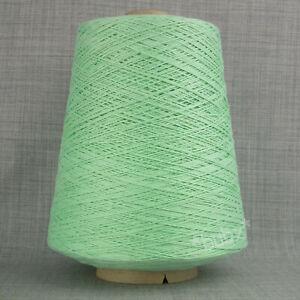 SOFT MERCERISED COTTON YARN 500g CONE 3 PLY MINT GREEN MACHINE KNITTING WEAVING