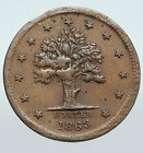 1863 US CIVIL WAR Hotel JONES WOOD New York OLD One Cent Token Penny Coin i90600