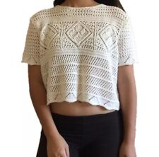 TOPSHOP LACED CROP TOP Like New women's clothing SIZE 8