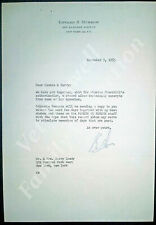Original Edward R Murrow Signed Letter w/Envelope to Connee Boswell Nov 9, 1955