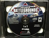 Advanced Battlegrounds The Future of Combat  PC Game CD ROM Disc, Case Mint Disc