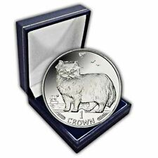 Isle of Man 1989 Persian Cat Unc. CuNi Coin in a box