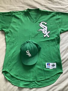 Chicago White Sox St. Patrick Game Used Worn Autographed Jersey Hat Keith Foulke