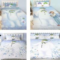 Official The Snowman Duvet Cover Single/Double Reversible Bedding Fleece Blanket