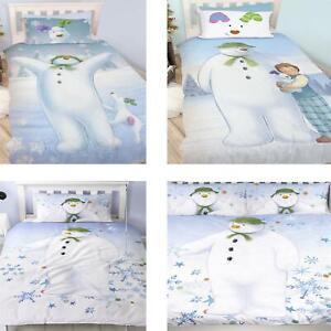 Official The Snowman Duvet Cover Single/Double Reversible Bedding Fleece Blanket